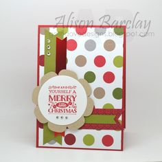 Gothdove Designs - Alison Barclay - Stampin' Up! Australia - Stampin' Up Merry Moments DSP #christmas #card #stampinup