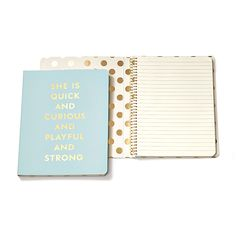 Kate Spade Notebook- Quick and Curious