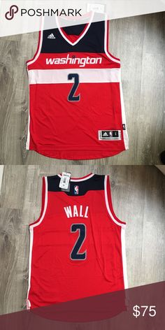 Adidas John Wall Washington Wizards NBA Jersey Men s Small. I m currently  cleaning out f6cd2e933
