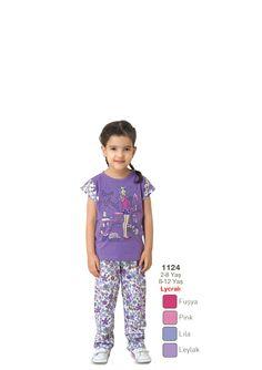 Fapi Pijama Kız Çocuk Likralı Pijama Takımı - 1124 http://www.hasuta.com/Kiz-Cocuk-Likrali-Cicekli-Eflatun-Pijama-Takimi-1124,PR-993.html