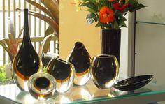 Construindo Minha Casa Clean: A Beleza dos Vidros de Murano na Decoração!