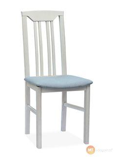 Židle klasického vzhledu s pohodlným polstrovaným sedákem vhodně doplní interiér kuchyní i jídelen. Vzhled lze variovat libovolnou kombinací moření a potahu.