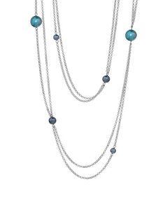 Look at this #zulilyfind! Blue & Silvertone Roaring '20s Necklace #zulilyfinds