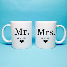 Mr and Mrs Gift  Bridal Shower Gift  Mr and Mrs by TheCoffeeCorner
