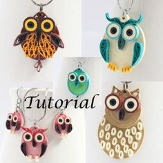 paper quilling tutorial quilled owl earrings jewelry