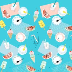 Evite Postmark Summer Social Ipad Wallpaper by Amy Van Luijk courtesy of bigbrightbold - Blog