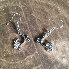 Scooter Earrings Vespa Tibetan Silver