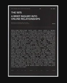 A brief inquiry into online relationships // love their new album xx