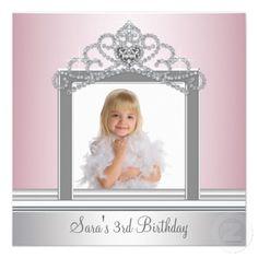 Princess Tiara Photo Princess Birthday Party Invitations