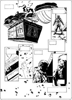 A page for an upcoming comic called Void, drawn and inked by Sean Phillips