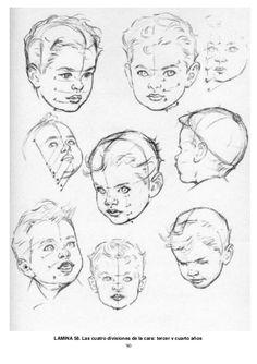90 LAMINA 58. Las cuatro divisiones de la cara: tercer y cuarto años