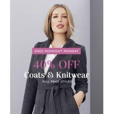 40% OFF Sale on Coats & Knitwear @ Jacqui E. - Bargain Bro