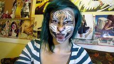 Fierce Tiger - Full face realistic artistic makeup