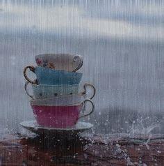 coffee in the rain