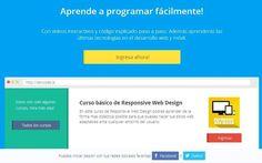DevCode es un sitio en español con diferentes cursos de programación gratuitos. Su método de formación se basa en vídeos interactivos y código explicado.