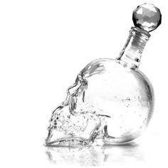 Tete-de-mort-gothique-bouteille-carafe-whisky-Vodka-verre-cristal-500ml