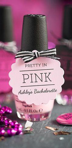 New pink bridal shower games nail polish ideas Pink Wedding Nails, Polish Wedding, Pink Party Favors, Wedding Party Favors, Wedding Ideas, Wedding Inspiration, Bachlorette Party, Bachelorette Party Favors, Bachelorette 2015