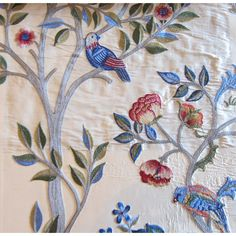 Morris and Co Archive Embroideries Kelmscott Tree Fabric Collection 230343 230343