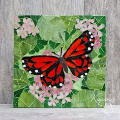Made to order. Butterfly. Beautiful Mosaic. Wall by KupavaArtHome