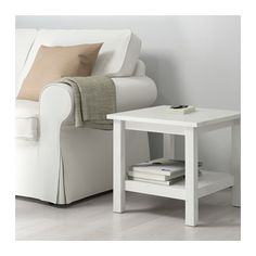 """HEMNES Side table from IKEA in """"white stain"""" - excited to have the double shelf *M*"""