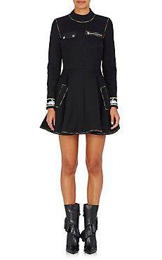 Cotton-Blend Fit & Flare Dress