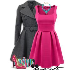 """""""Hot Pink"""" by amo-iste on Polyvore"""