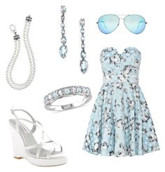 """blue summer date outfit"" by kayleighrowe on Polyvore"
