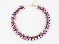 Colorful Choker Necklace Trendy Statement Necklace by eBijoux, $9.99