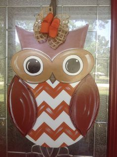 Fall owl door hanging personalized  by Shirleys by samthecrafter, $37.00