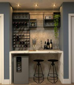 65 Best and Cool Home Bar Design Confused to make a bar room? On the topic of design for our favorite home is to discuss the design of the bar room that will be in our home. Home Bar Counter, Bar Counter Design, Home Bar Cabinet, Bar In Kitchen, Bar Cabinets For Home, Kitchen Design, Home Bar Rooms, Diy Home Bar, Home Bar Decor