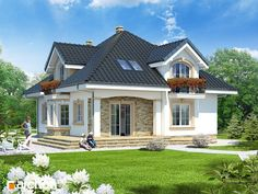 Casa de vis Modern Bungalow House, Bungalow House Plans, Dream House Plans, House Floor Plans, Flat House Design, Two Story House Design, Modern House Design, Home Building Design, Home Design Plans