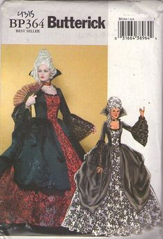 MOMSPatterns Vintage Sewing Patterns - Butterick 4315 BP364 Retro 2004 Sewing Pattern DIVINE French Revolution Marie Antionette Ball Gown, Dress, Draped Overskirt, Masquerade Mardi Gras, High Court Size 6-12