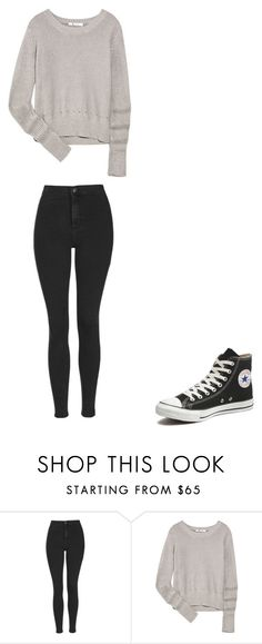 """""""Untitled #63"""" by tika-lekic ❤ liked on Polyvore featuring beauty, Topshop, T By Alexander Wang and Converse"""
