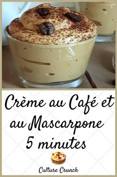 Desserts With Biscuits, Ww Desserts, Delicious Desserts, Dessert Recipes, Mousse, Best Banana Bread, Low Carb Bread, Coffee Recipes, Relleno