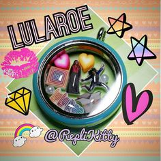 Upline and Downline Gifts - Handmade LuLaRoe Floating Charm and Locket Set by RepliKitty Can be customized for your team, and even your Direct Sales company!  Handmade in the USA! #lularoe #upline #downline #team #gifts #jewelry #swag #custom #locket #charms #owl #giveaway #contest #idea