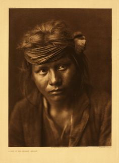 Son of the desert - Navaho, 1904, by Edward S. Curtis, 1868-1952