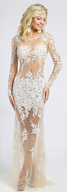 Jovani  Lacy & Sheer 2015 Gown - So Feminine
