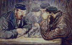 Chess Players by Moshe Rynecki