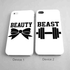 Beauty and The Beast Couples Phone Case iPhone 4/4S, 5/5S, 5C Series - Hard Plastic, Rubber Case