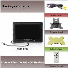 """7"""" TFT LCD Car Monitor+Power cables+Automotive Bracket+Remote Control by sunvalleytek. $35.98. Parking rear view priority: The monitor will start up automatically, and synchronously display the video from rear view camera when you're backing your car; the monitor will close itself after backing.  Scenes will cut to rear view camera automatically while you're backing the car and change back to the original scene after that.   Display Screen:  - Screen Size: 7 inch. - Disp..."""