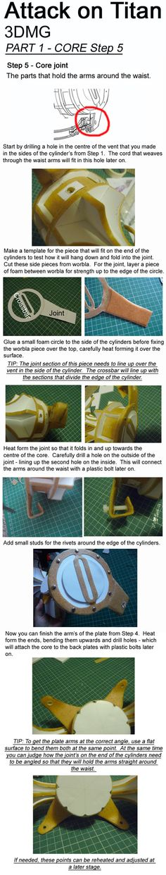 Attack on Titan, 3DMG, Tutorial - CORE STEP 5 by Aliasdotcom.deviantart.com on @DeviantArt