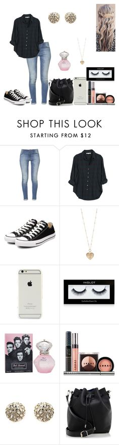 """Sem título #424"" by karen-biarmatos ❤ liked on Polyvore featuring Zara, Xirena, Converse, Betsey Johnson, Inglot, LORAC, Alexis Bittar, Proenza Schouler, women's clothing and women's fashion"