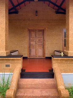 Indian Home Design, Kerala House Design, Village House Design, Village Houses, Kerala Traditional House, Mud House, Farm House, House Front, Kerala Houses