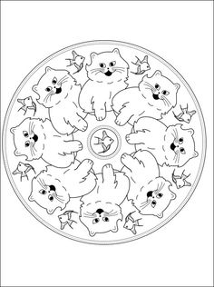 3 D Coloring Book My First Animal Mandalas Dover