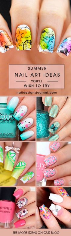 Summer nail art is a final touch to your bright image. Need some inspiration for your next manicure? These nail art designs are collected especially for you.