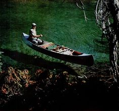 Paul Hosmer in floating canoe on Devil's Lake, Oregon Tree Felling, Famous Pictures, Book Journal, Man Photo, Life Magazine, After Dark, World War I, Canoe, The Great Outdoors