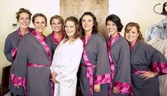 Bridesmaid Gift Giving Rules: robes by Doie, photo by Once Like A Spark