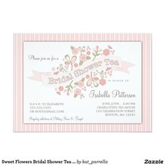 Chic Bridal Tea Party  Bridal Shower Invitation  Invitations