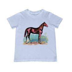 Vintage Horse illustration on kids TShirt  by lesleyhornbeck, $10.00