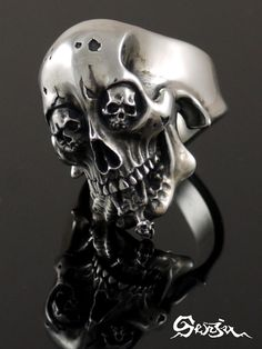 Scull ring Senju 《 Rg-1Self-Discipline 》 (/ silver accessories / シルバーアクセ / silver / silver 925/Silver925/ silver / 1,000 moves / Kannon-with-One-Thousand-Arms / ring / ring / men / unisex / scull / skeleton / skeleton / vegetables with dressing / tongue / vero // Senju)